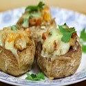 Mushrooms Stuffed with Roquefort Cheese