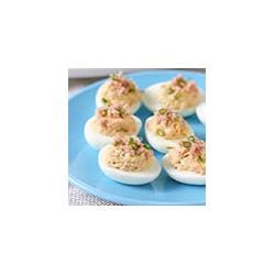 Huevos Rellenos de Atun y Salmon