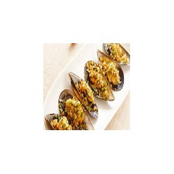 Stuffed Mussels Gratin