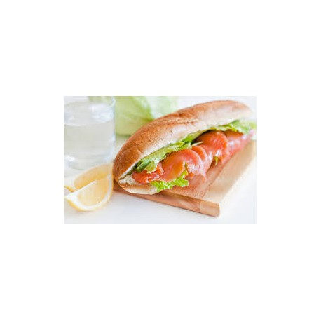 Bocadillo de Salmon Ahumado