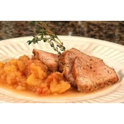 Pork Sirloin with Apple Sauce