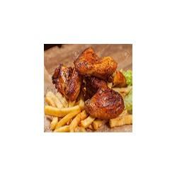 Alitas de Pollo con Fritas