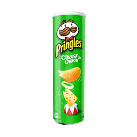 Crisps Pringels 150 gr.cheese & onion