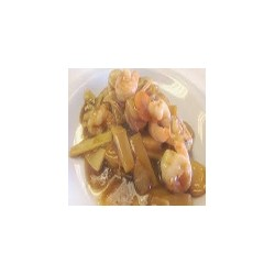 Prawns with Bamboo and Mushrooms