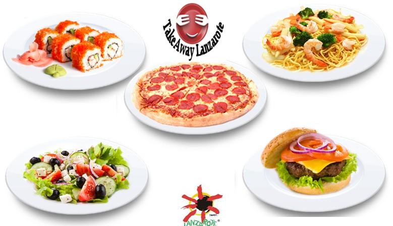 Takeaway Lanzarote.Comida para llevar in Lanzarote, reparto de comida con gran variedad de menús de los restaurantes que ofrecen Pizza, Kebabs, comida china, india, tailandesa, italiana, canaria, española y mucho más.