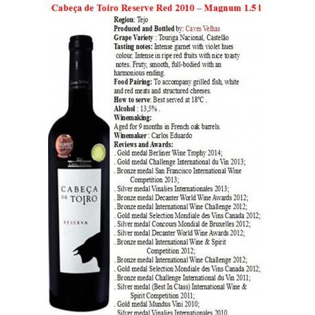 Cabeca de Toiro Red wine  Reserva 1.5 L