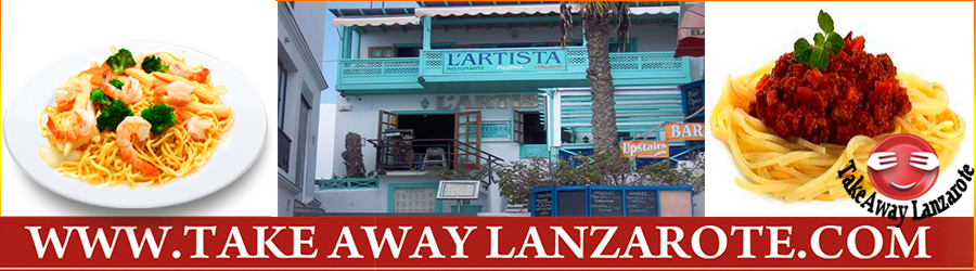 L Artista Italian Restaurant Takeaway Playa Blanca, Lanzarote, food delivery takeaway & pick up