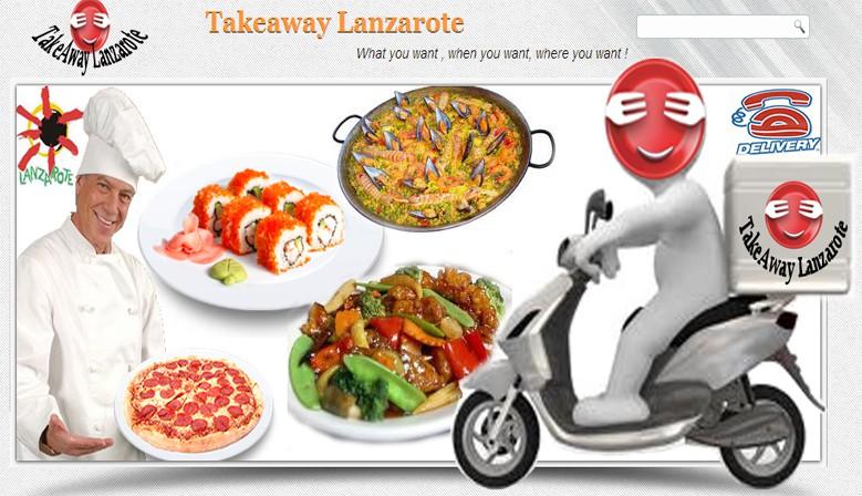 Takeaway Lanzarote. Comida a domicilio in Lanzarote. Comida para llevar - Lanzarote- Pizza, Kebab, comida china, india, tailandesa, italiana, canaria, española y mucho más.