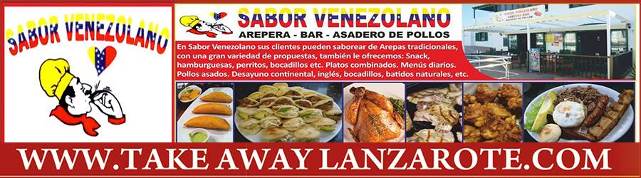 Sabor Venezolano Restaurants Takeaway Playa Blanca, Lanzarote, food delivery service Playa Blanca, Yaiza, Femes - Lanzarote , Pick Up Takeaway Playa Blanca