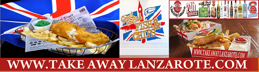 British Fish & Chips, Takeaway Playa Blanca, Lanzarote, food Delivery Lanzarote