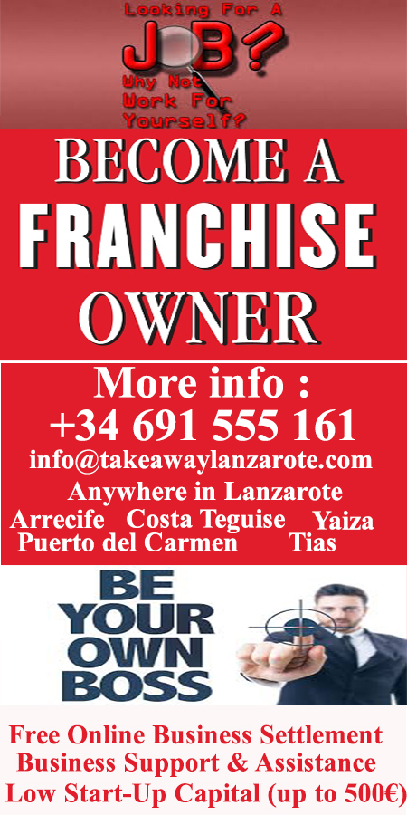 Takeaway Food and Drinks Lanzarote, free delivery service  Lanzarote