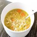 Sopa de pollo y maíz dulce