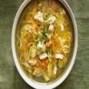 Sopa de pollo y fideos