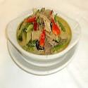 Pollo con salsa Curry Verde Thai