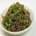 Ternera con salsa de Pimientos Verde