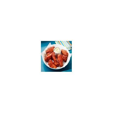 Alitas de Pollo BBQ con Papas Fritas