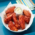 BBQ Chicken Wings with Chips