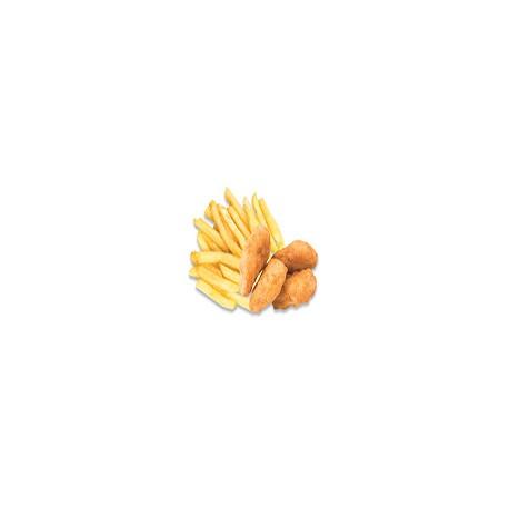 Nuggets de Pollo con Papas Fritas