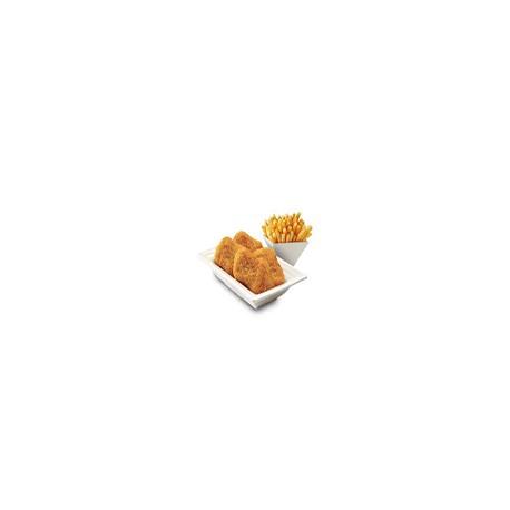 Nuggets de Pollo con Fritas