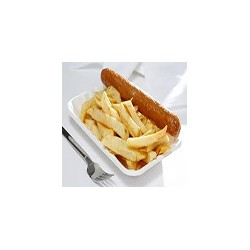 Sausage with Chips