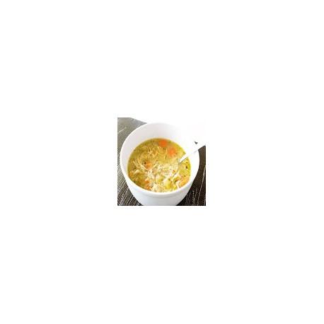 Sopa de maiz con pollo