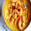 Prawns with curry sauce
