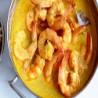 Gambas con salsa de curry