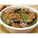 Chicken , bamboo & mushrooms