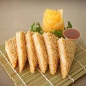 Prawn toast with sesame