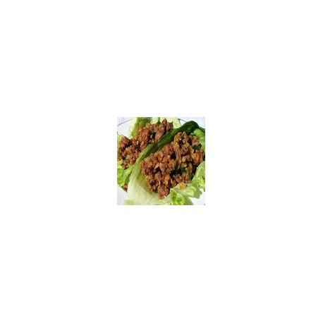 Yuk Sung chicken (Pollo picado en lechuga fresca)