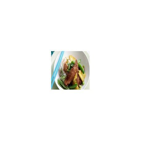 Pato de Pekín con salsa de piña