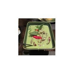 Pato con salsa de curry verde tailandés