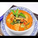 Pork with Thai red curry