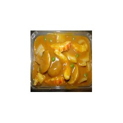 Langostinos con salsa de curry