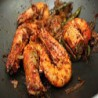 King prawns with spicy sauce