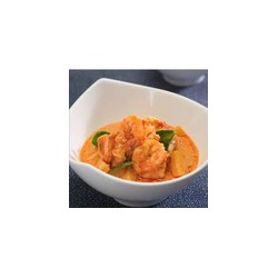 King prawns with Thai red curry