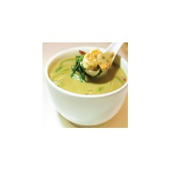 Langostinos con curry verde tailandés