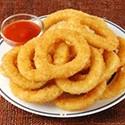 Anillos de cebolla frita