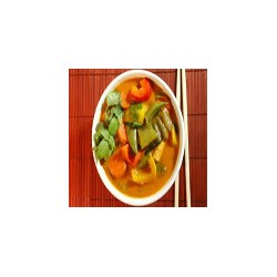 Vegetables with Thai red curry