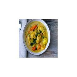 Verduras con salsa de curry chino