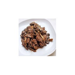 Stir fried fresh mushrooms