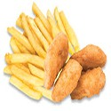 Nuggets de Pollo y Papas Fritas