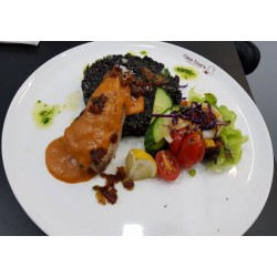 Sirloin Steak in Lanzarote Peppers Grilled