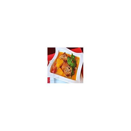 Pollo con Curry Rojo Thai
