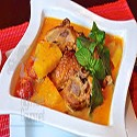Pollo con Curry Rojo Thai