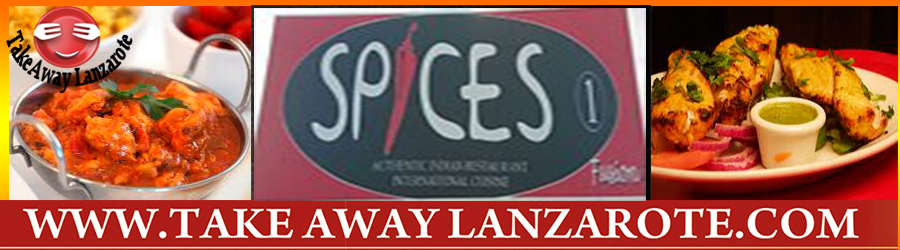 Indian Restaurant Spice Fusion, Food Delivery Takeaway Playa Blanca, Lanzarote