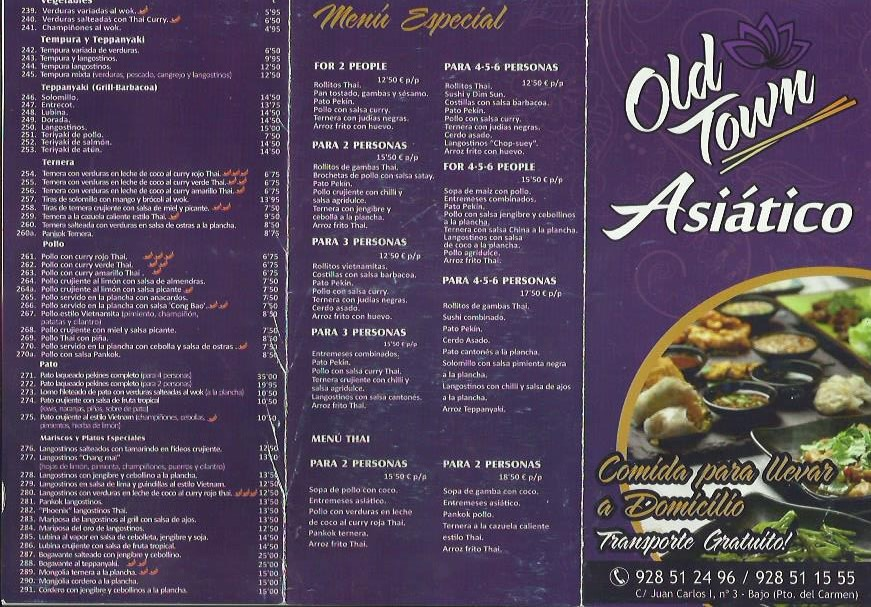 old town asiatico pdc takeaway lanzarote