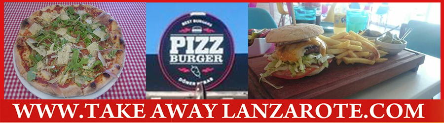Pizza Takeaway Pizzeria PizzBurger, Takeaway Playa Blanca, Lanzarote, food Delivery Lanzarote, Yaiza
