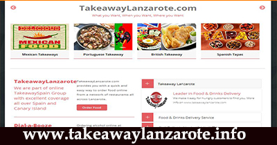 Takeaway Lanzarote, food delivery service across Lanzarote