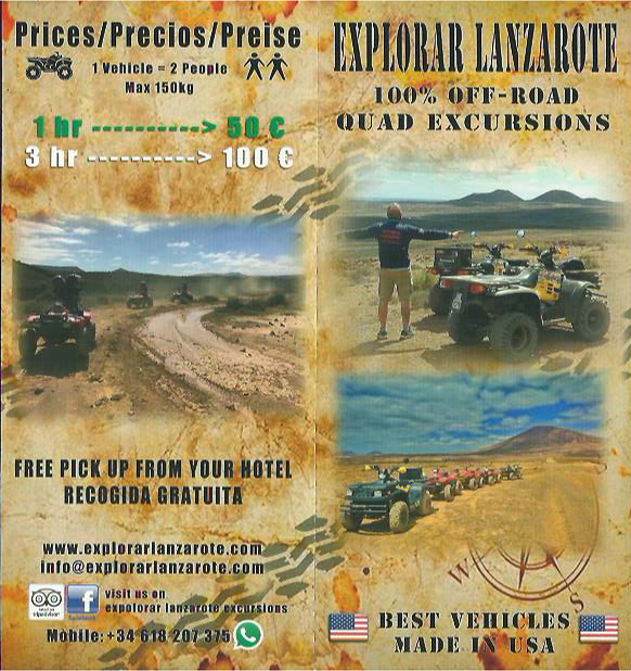 Quad Excursions - Explore Lanzarote Off Roads Things To Do Lanzarote